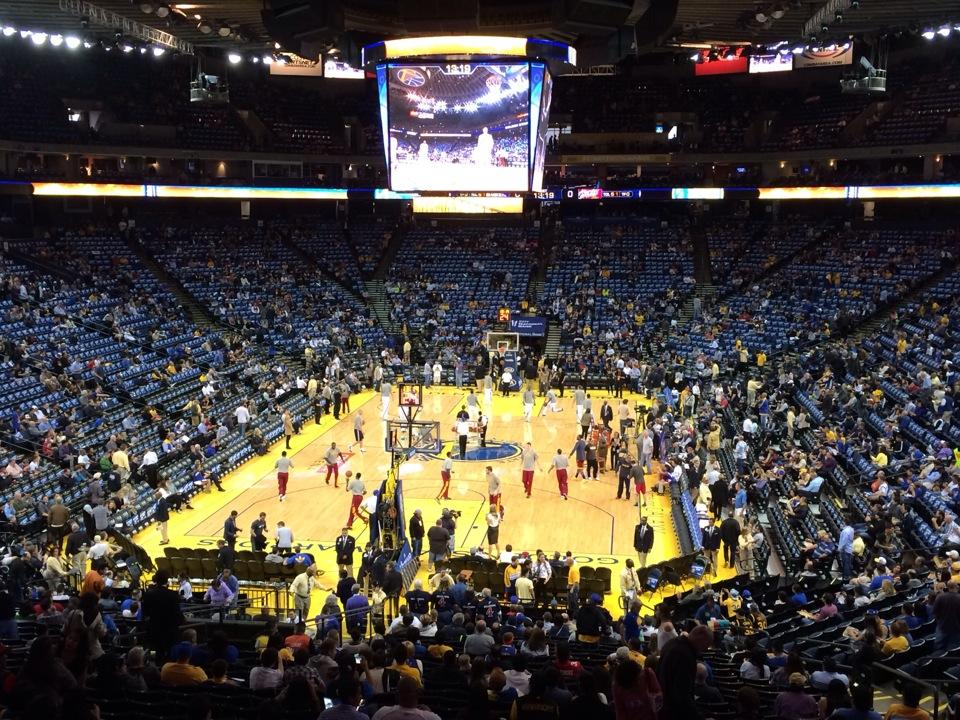 Golden State Warriors Home Court >> Oracle Arena Section 107 - Golden State Warriors - RateYourSeats.com