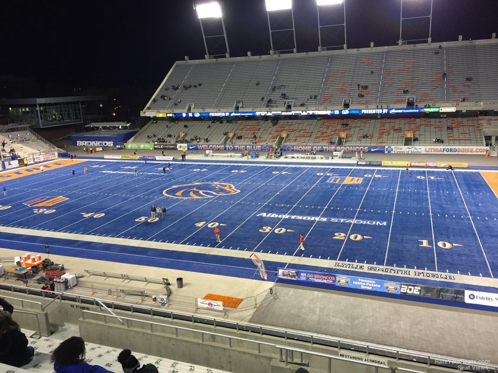 Bronco Stadium Section 106 - RateYourSeats.com