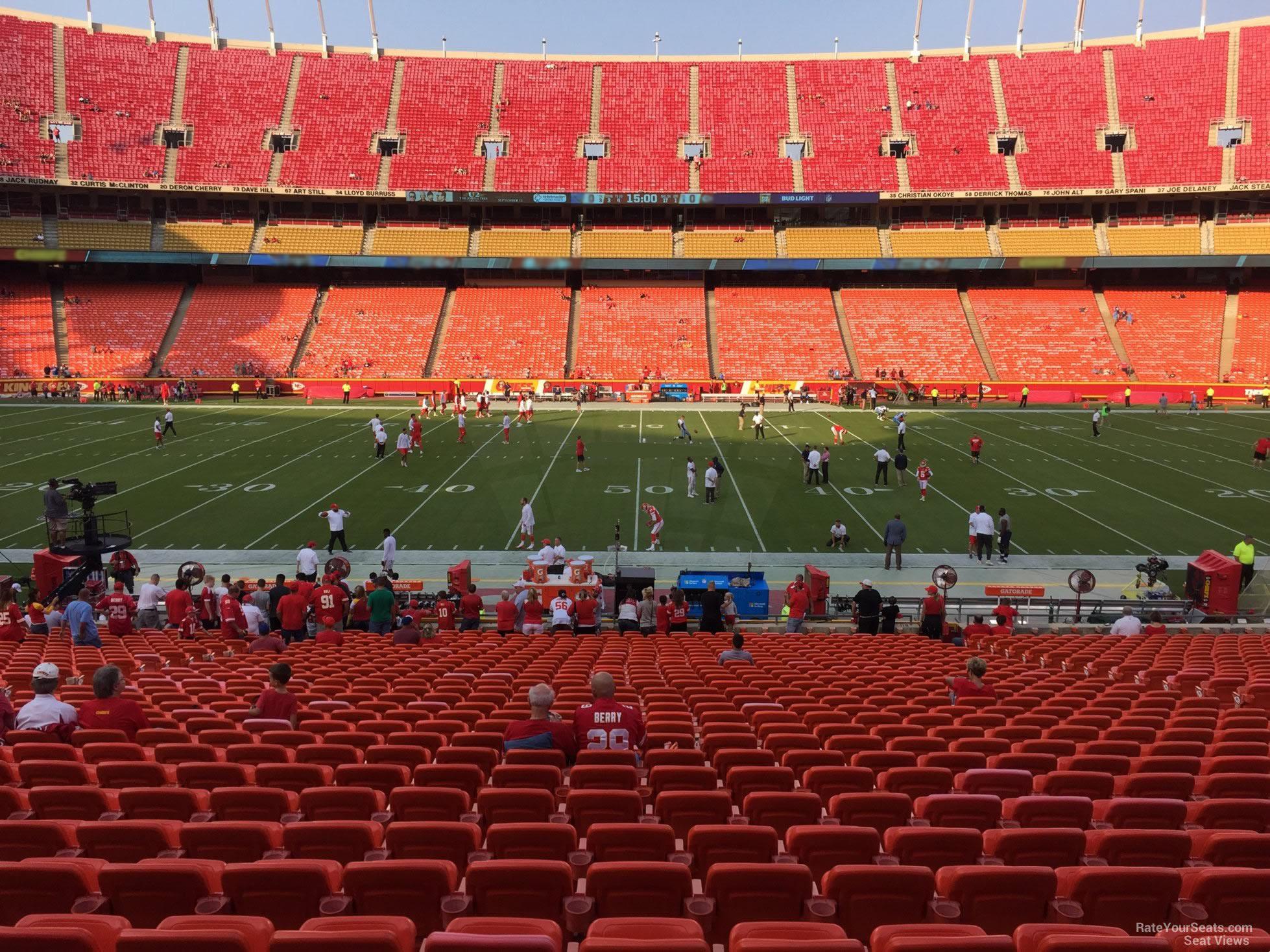 Arrowhead Stadium Section 119 - RateYourSeats.com