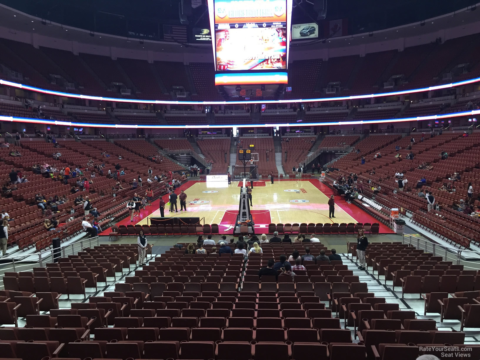 Honda Center Section 215 Basketball Seating