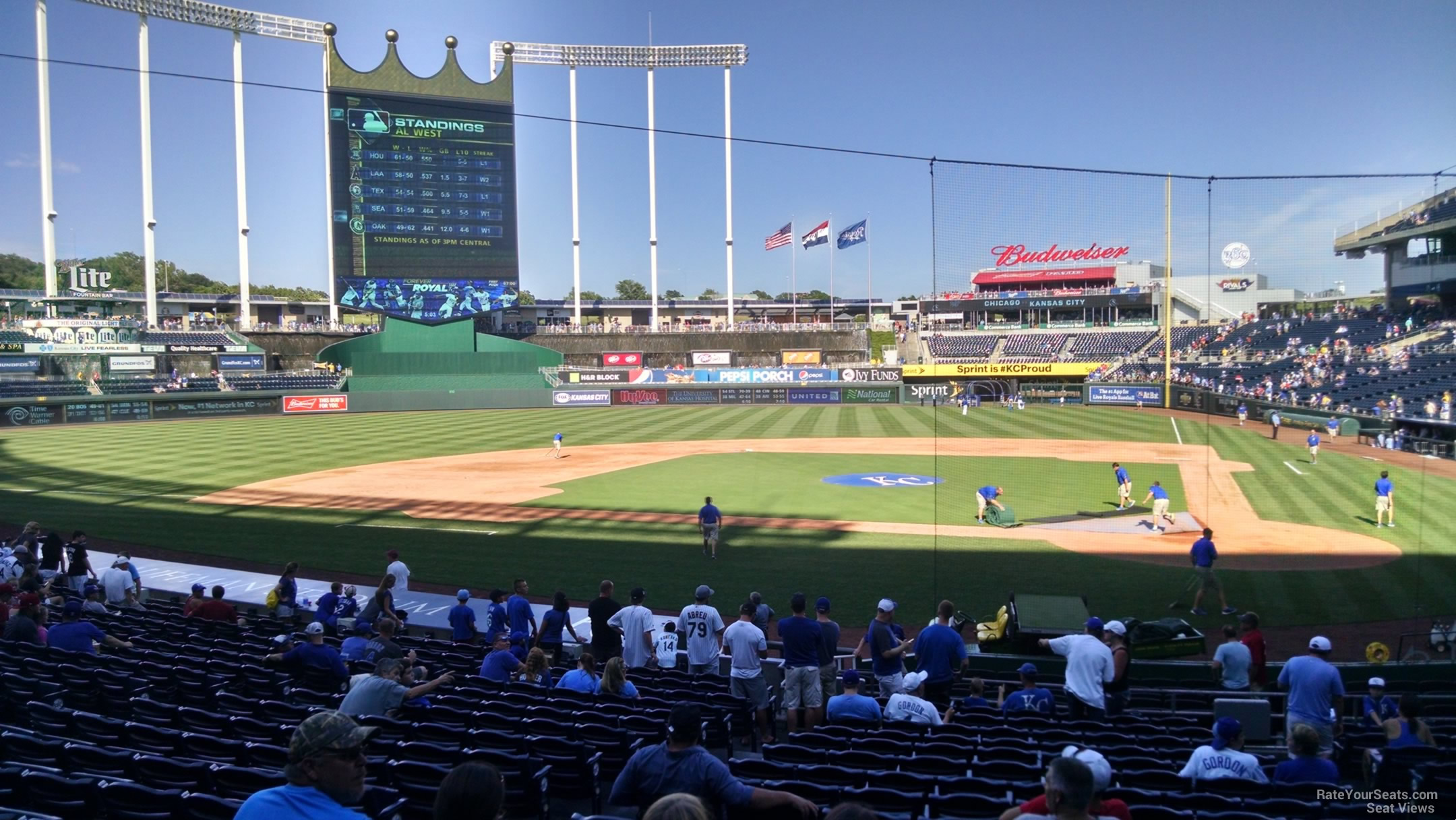 Kauffman Stadium Section 124 - RateYourSeats.com