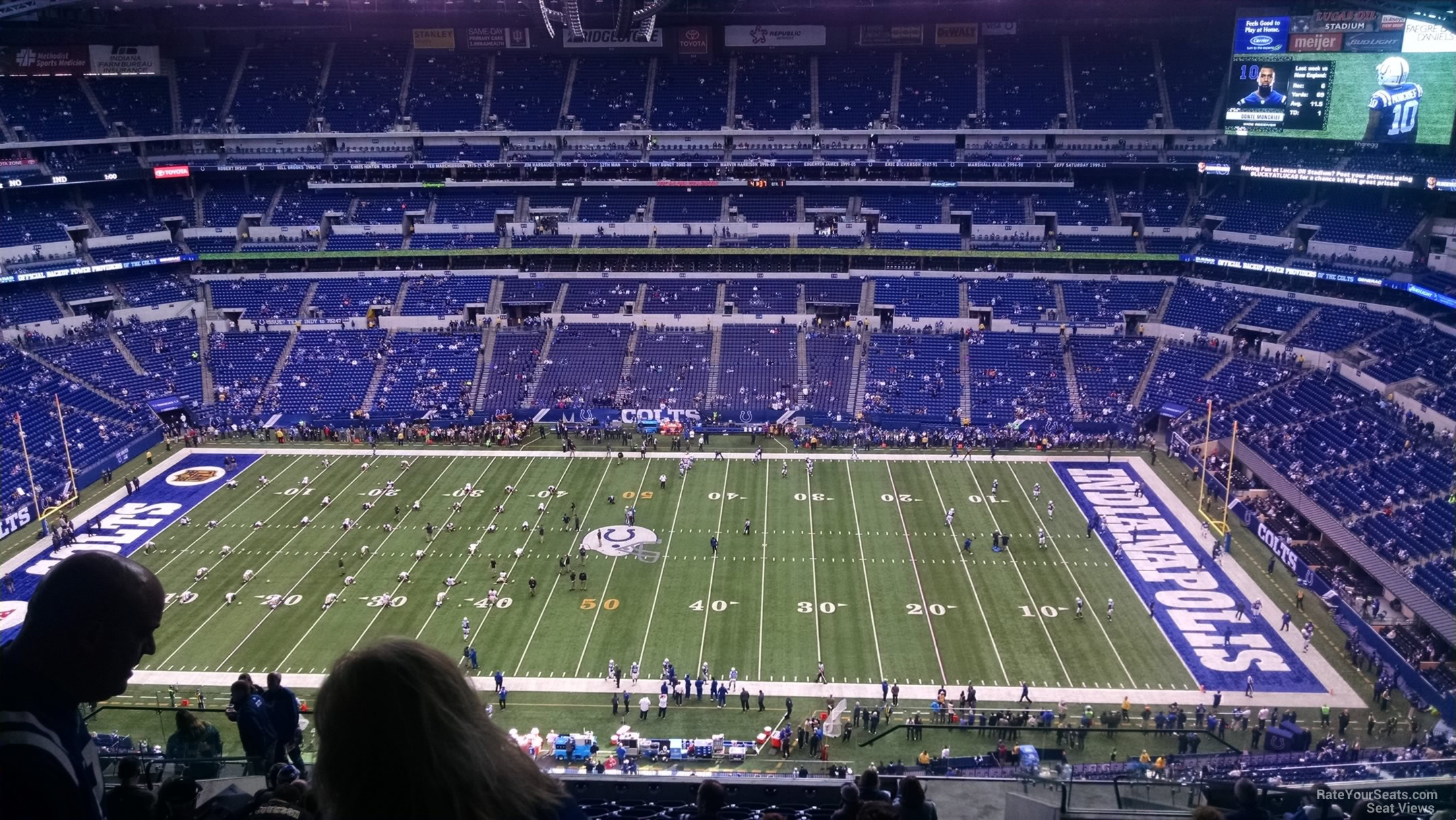 Lucas oil stadium section 639 indianapolis colts for Terrace end zone lucas oil stadium