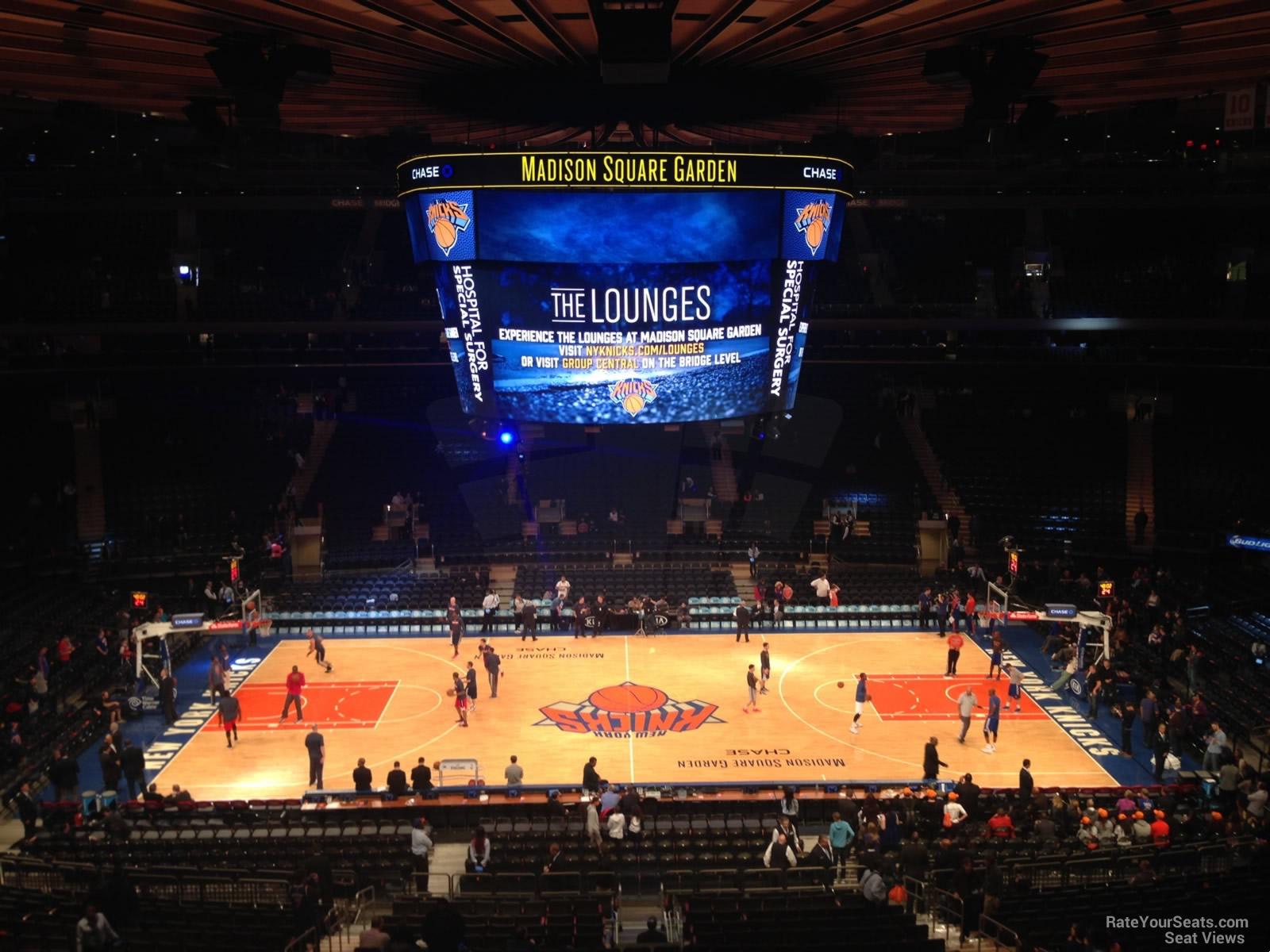 Madison Square Garden Section 211 New York Knicks