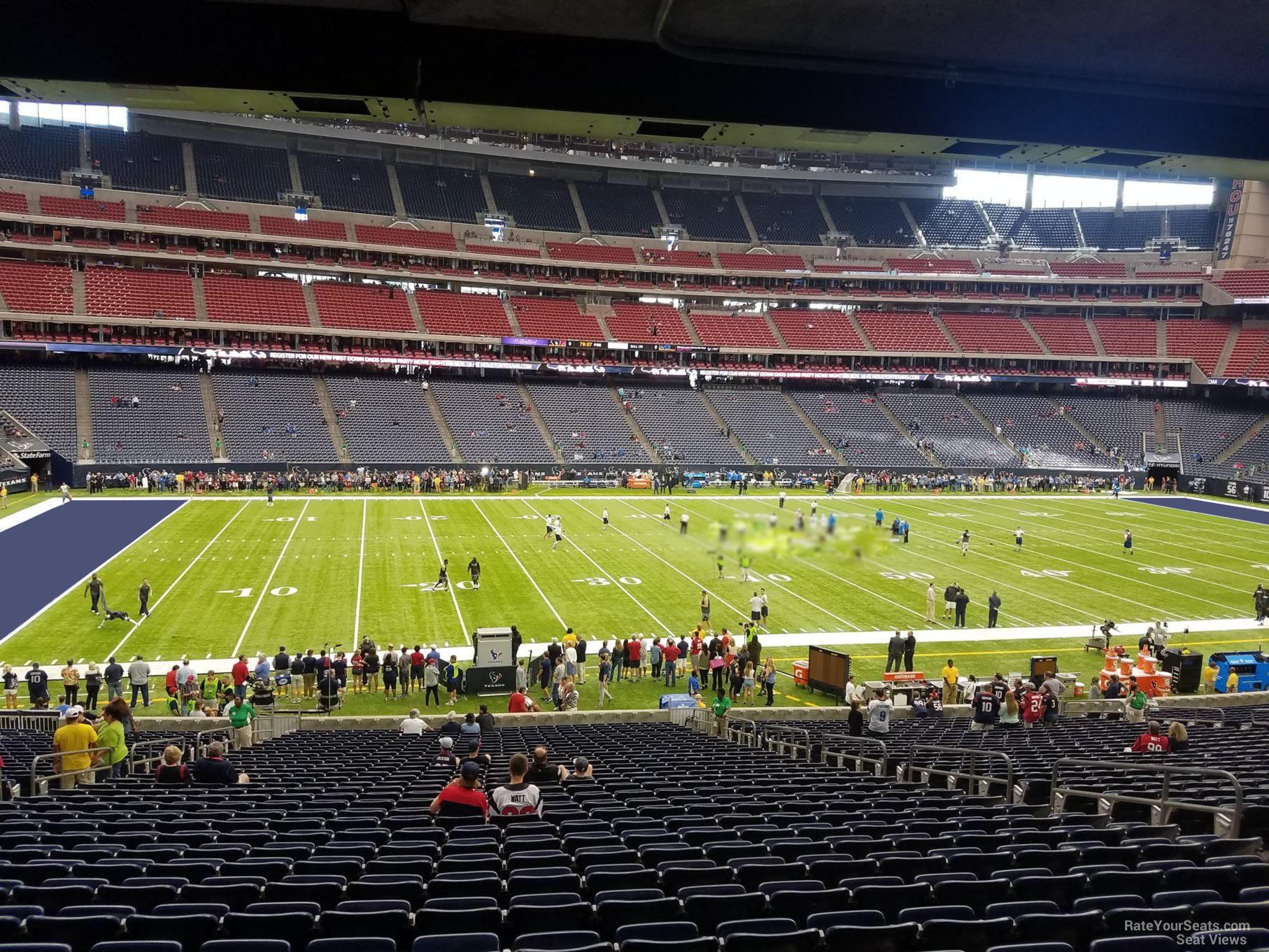 Nrg Stadium Section 109 Houston Texans Rateyourseats Com