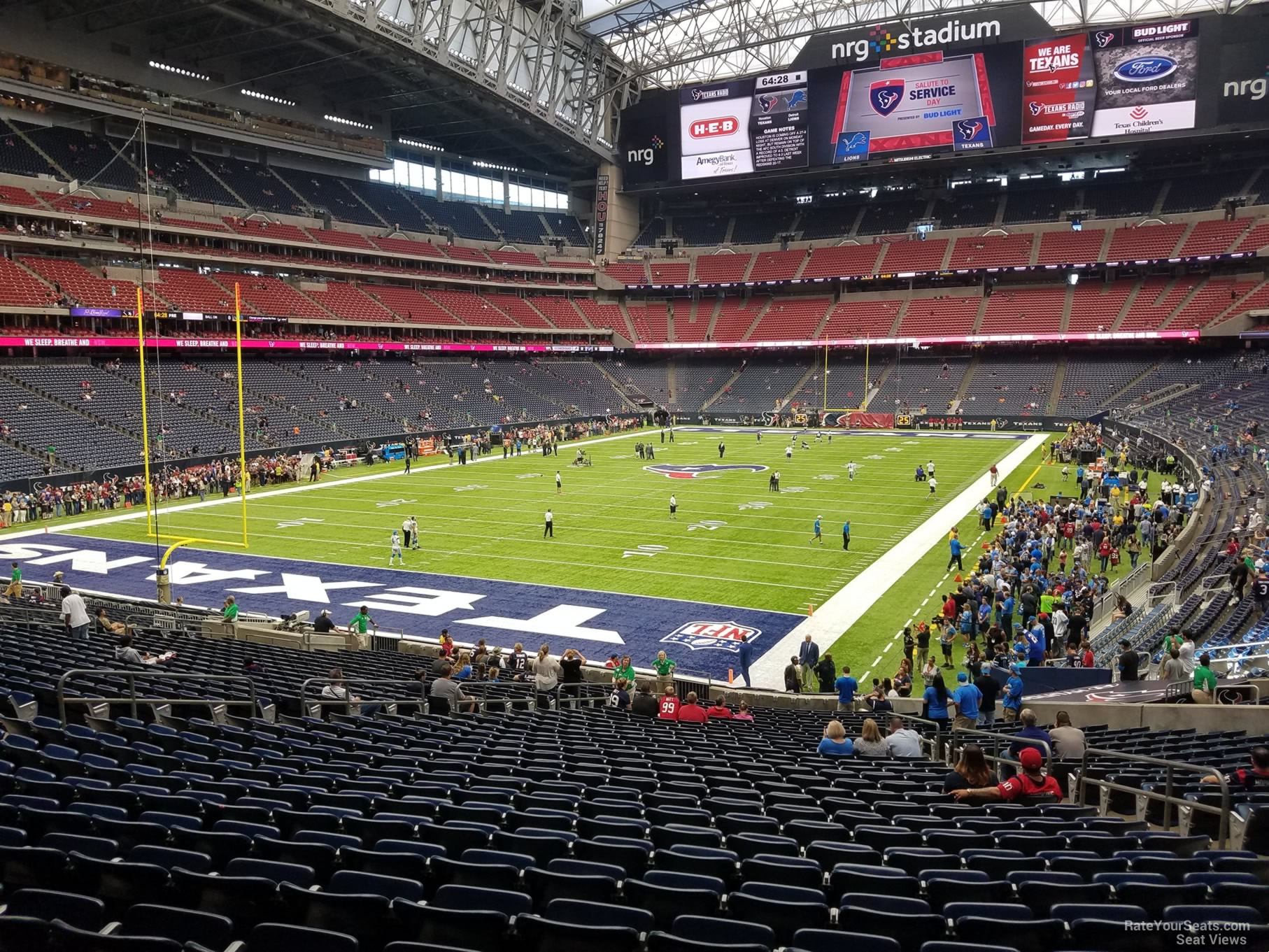 NRG Stadium Section 134 - Houston Texans - RateYourSeats.com