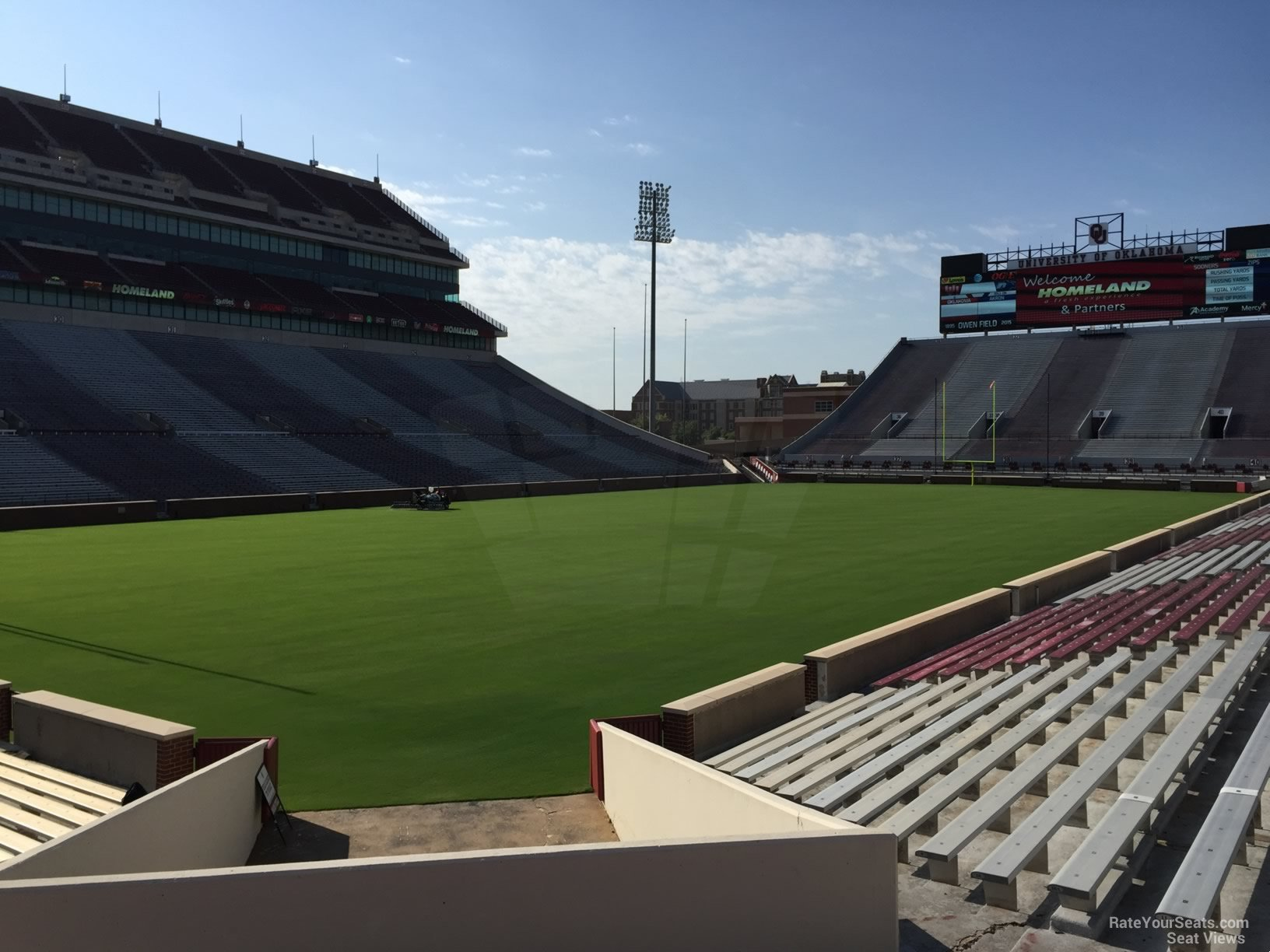 Lower Level Corner Oklahoma Memorial Stadium Football