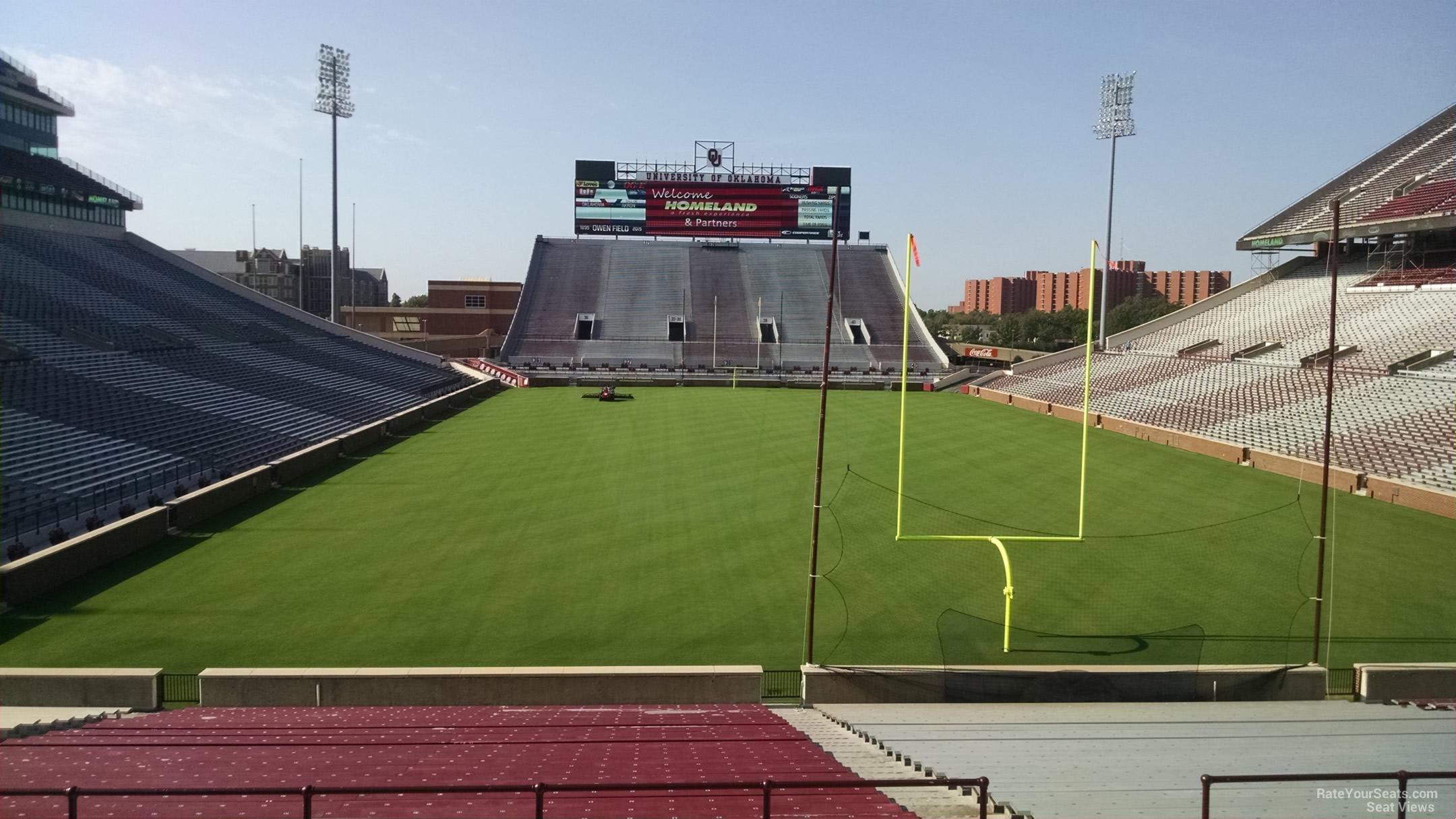 Oklahoma Memorial Stadium Section 19 Rateyourseats Com