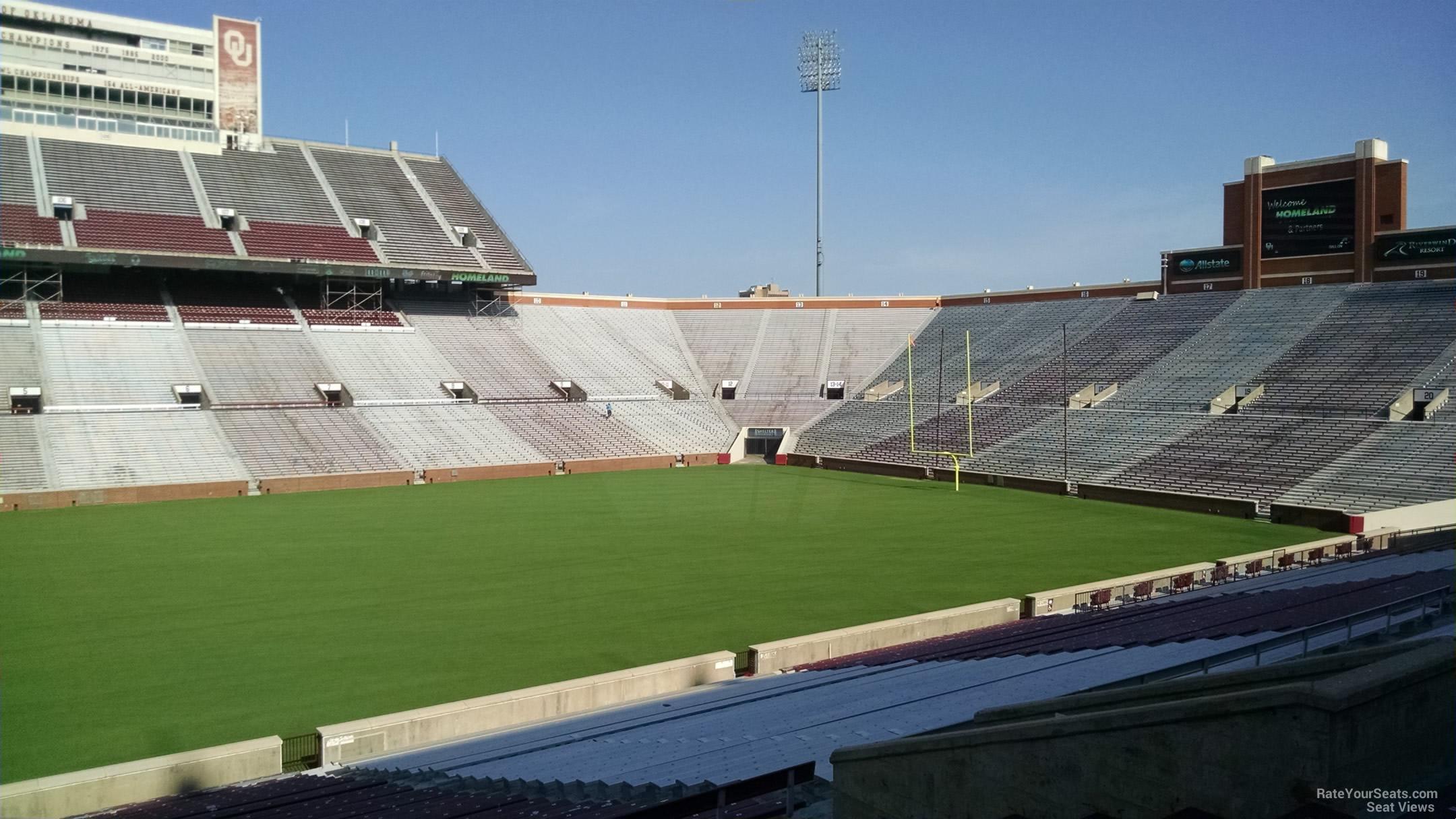 Oklahoma Memorial Stadium Section 31 Rateyourseats Com