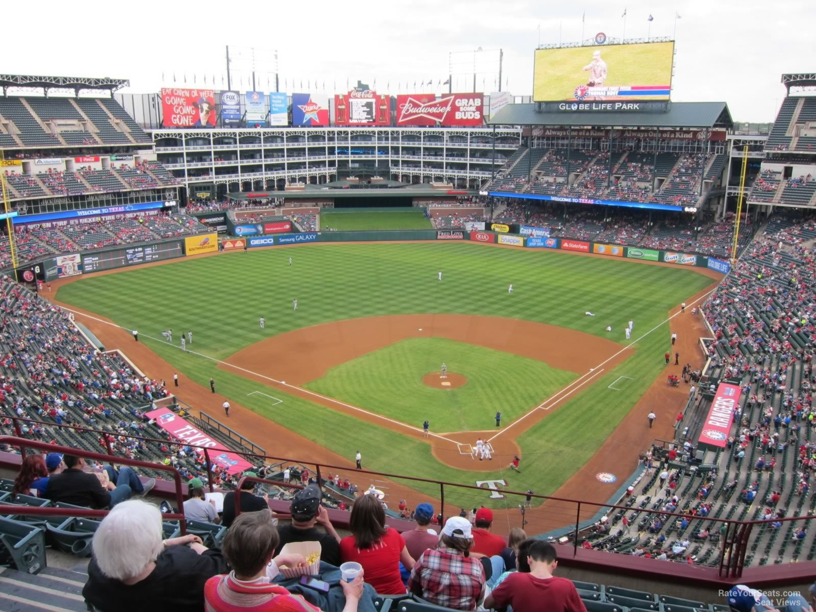Texas Rangers Globe Life Park Seating Chart Interactive