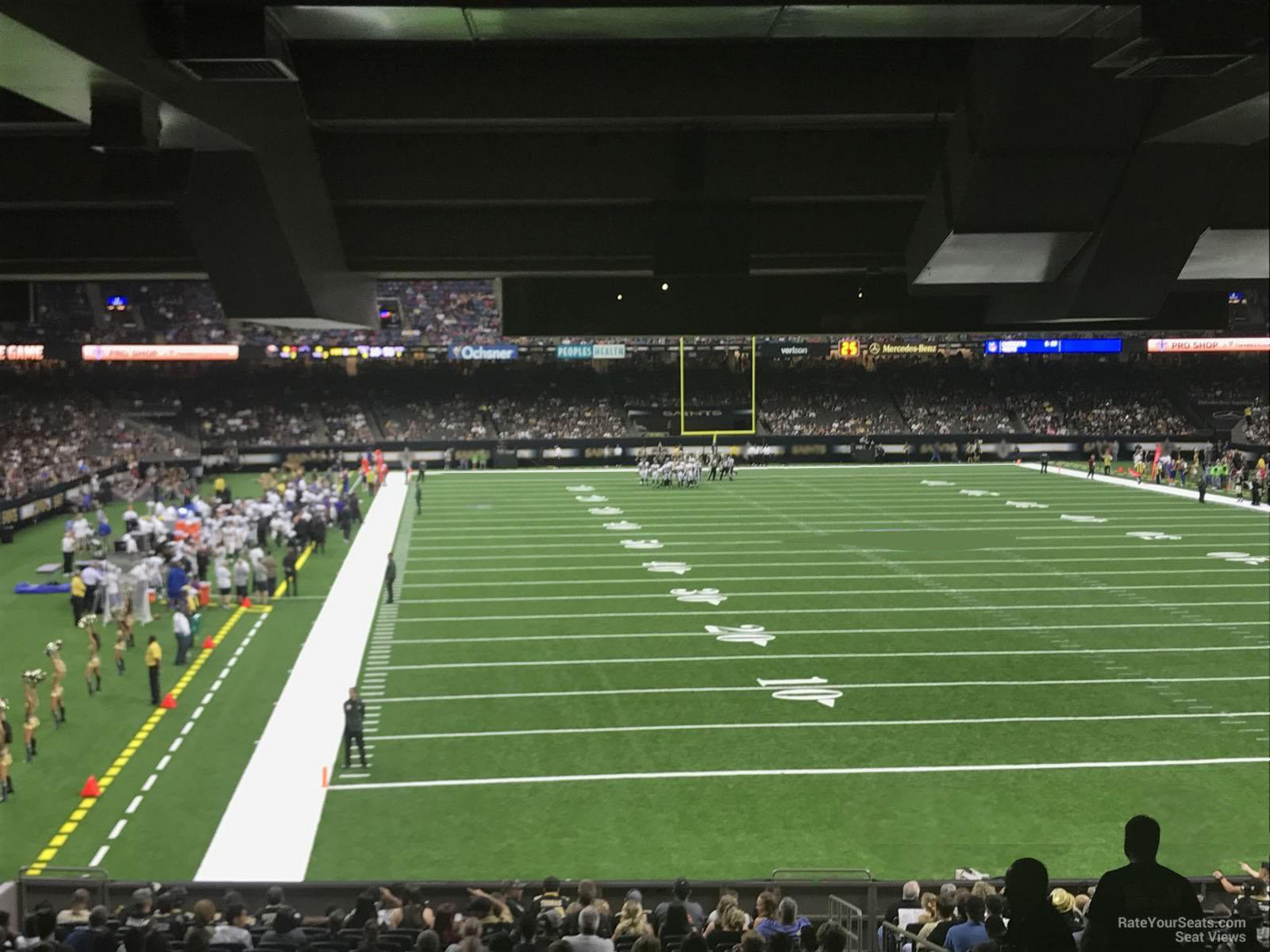 Superdome Section 104 - New Orleans Saints - RateYourSeats.com