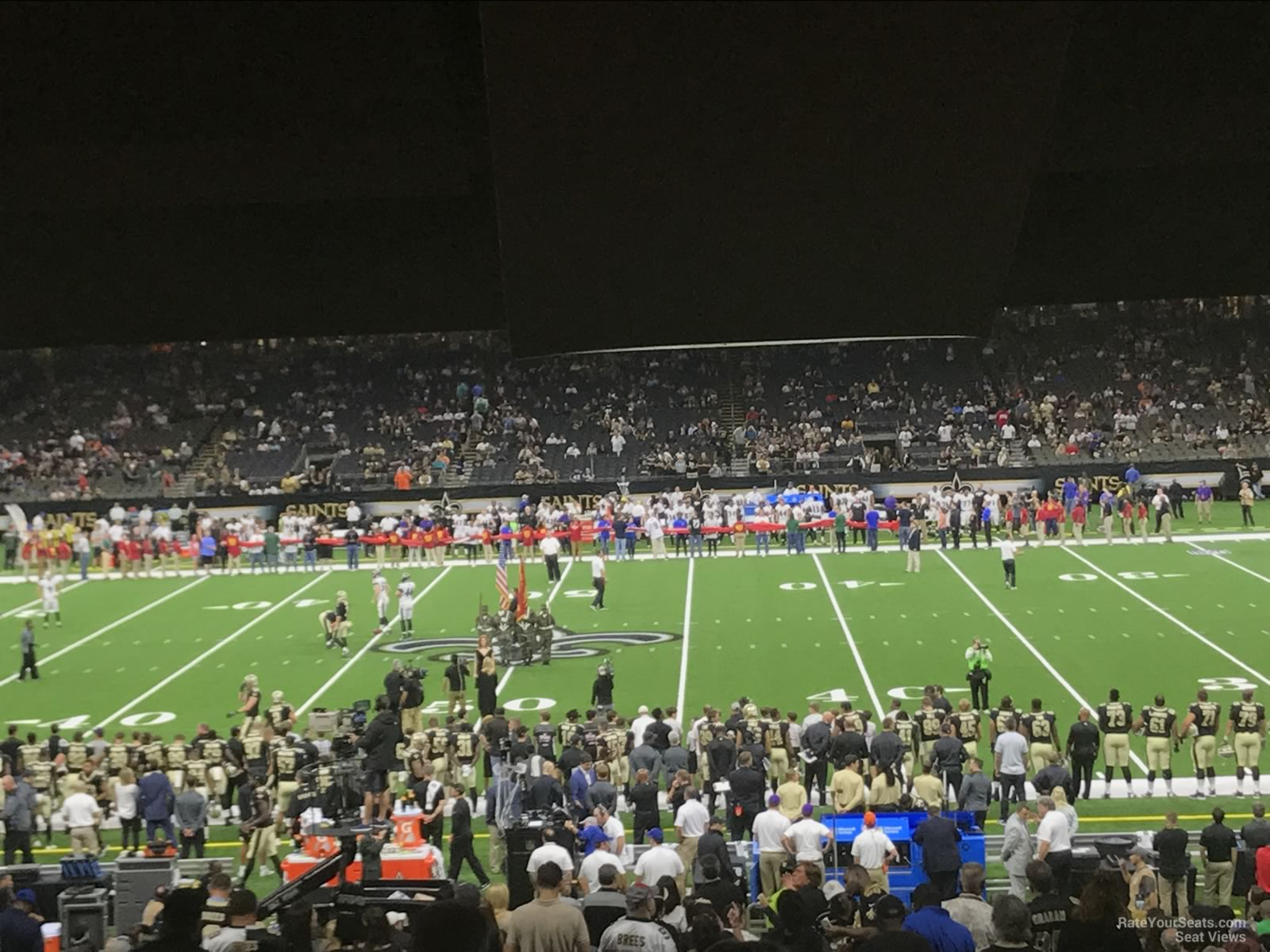 superdome section 142 new orleans saints