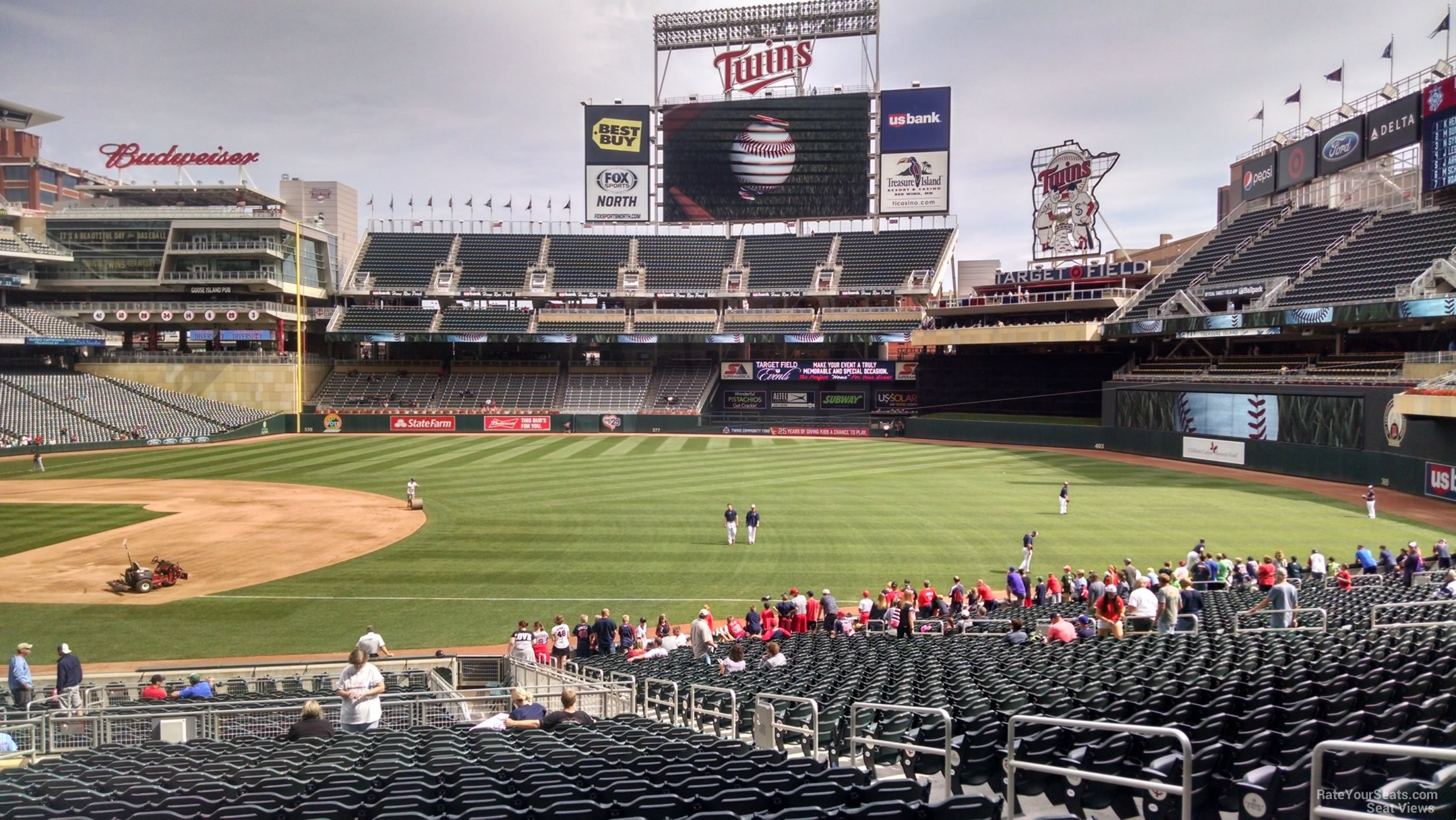 Target Field Section 105 - RateYourSeats.com