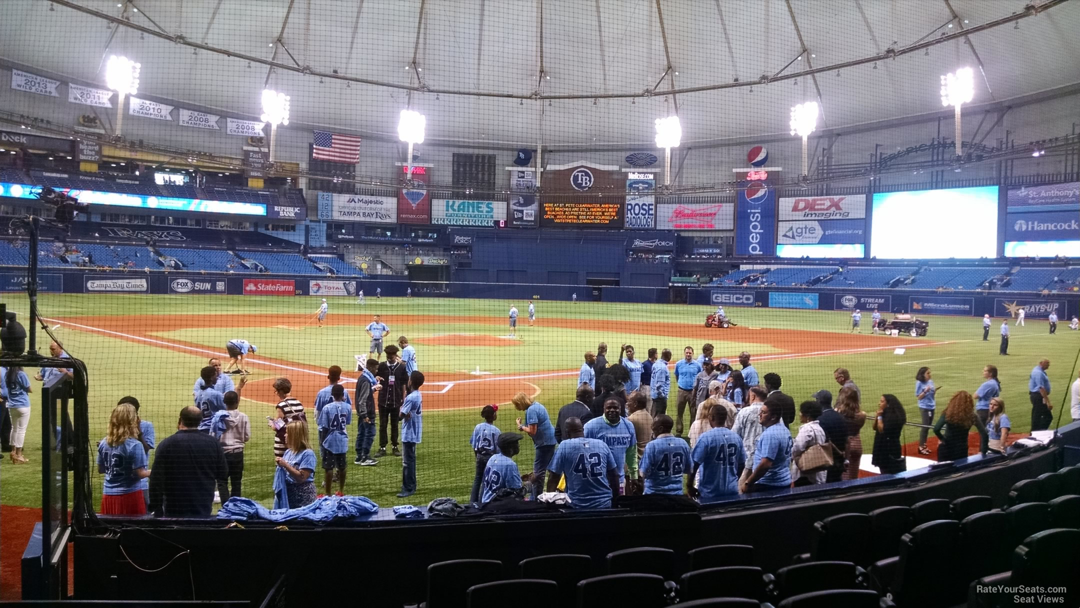 Tropicana Field Section 108 - Tampa Bay Rays ...