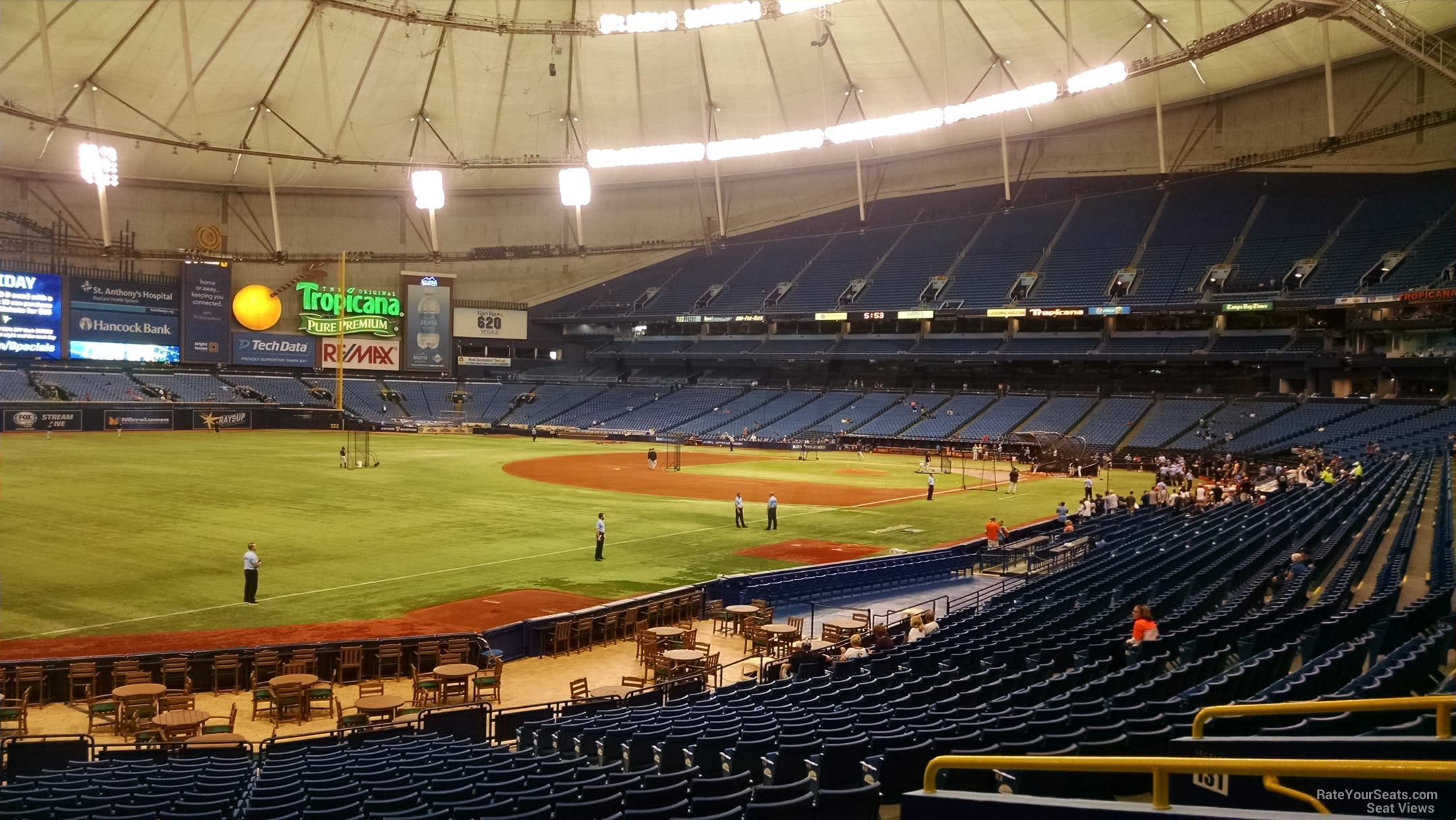 Tropicana Field Section 133 Tampa Bay Rays