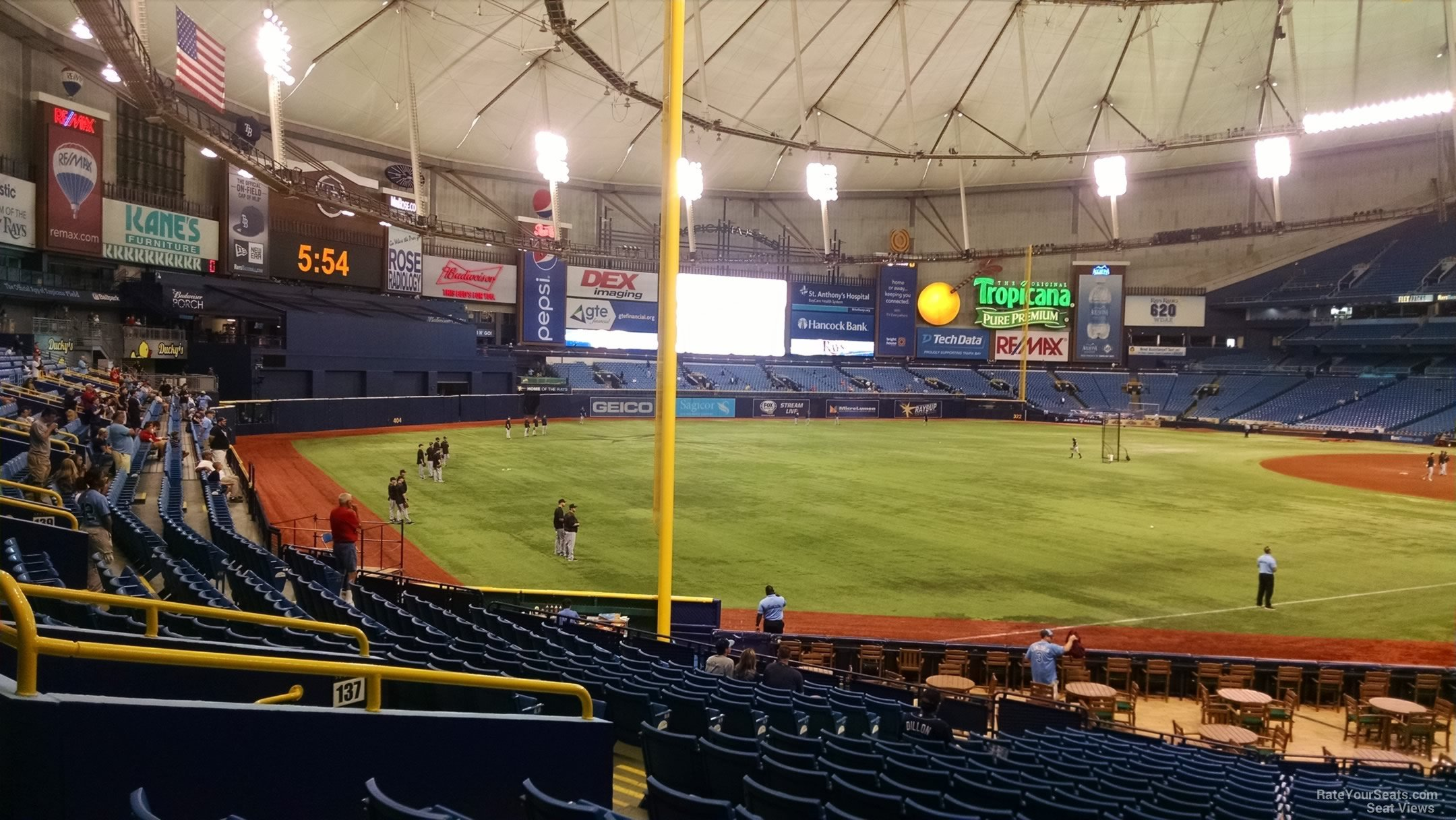 Tropicana Field Section 135 - Tampa Bay Rays ...