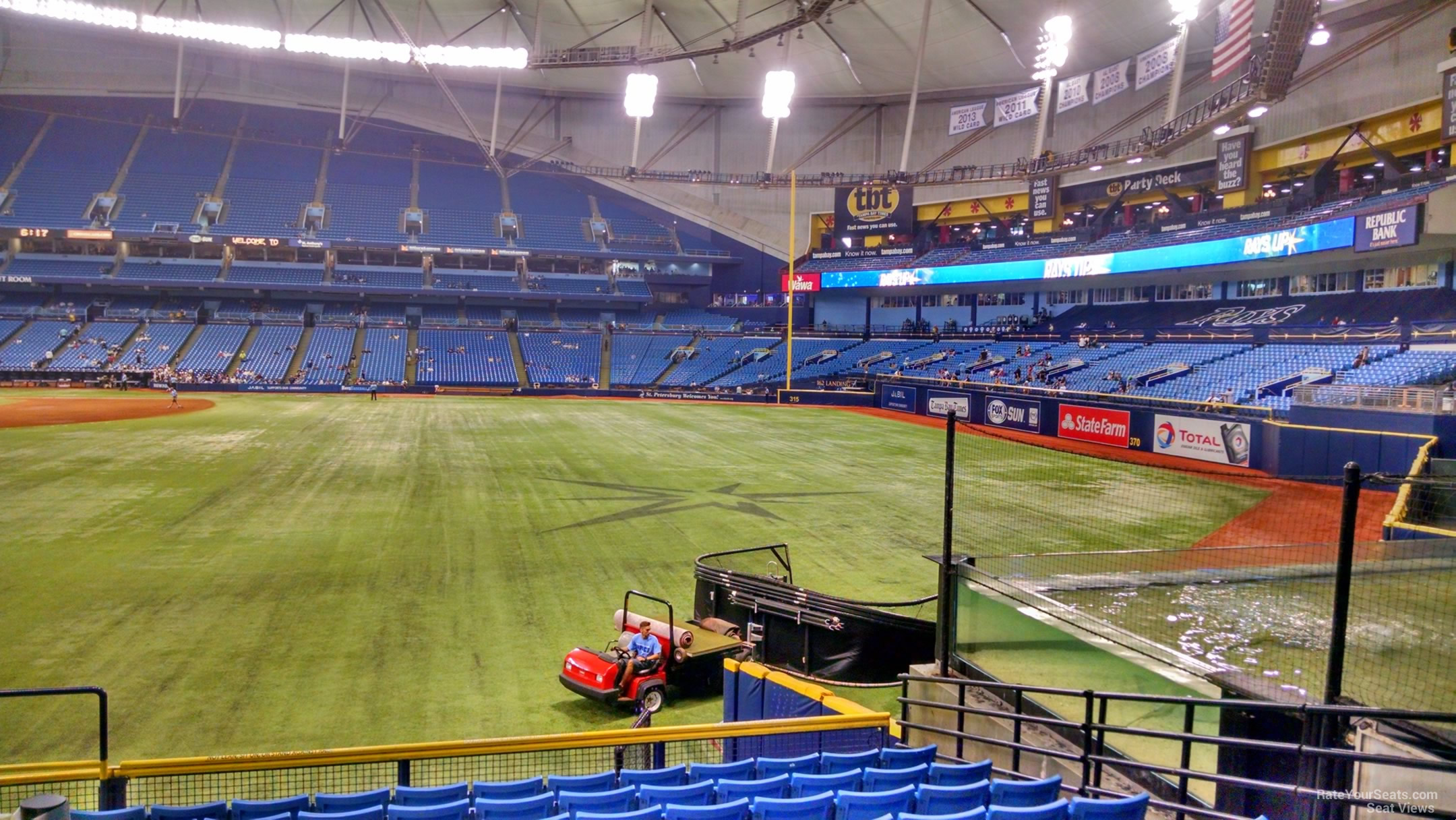 Tropicana Field Section 150 - Tampa Bay Rays ...