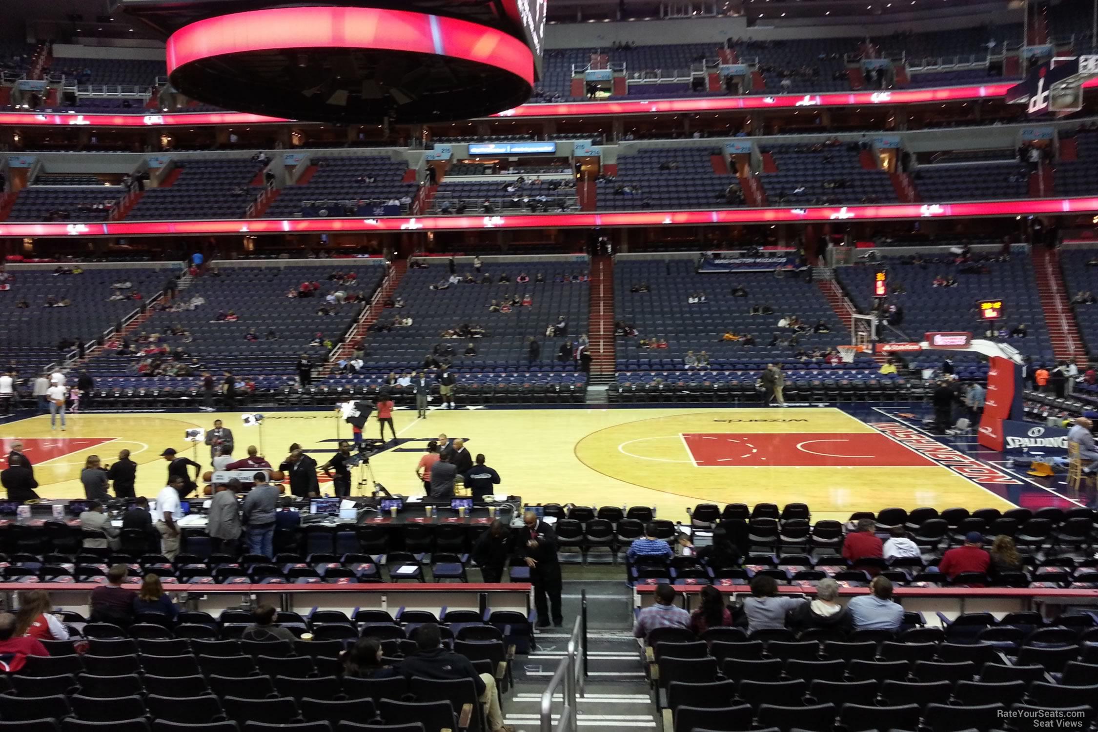 100 Level Center Verizon Center Basketball Seating