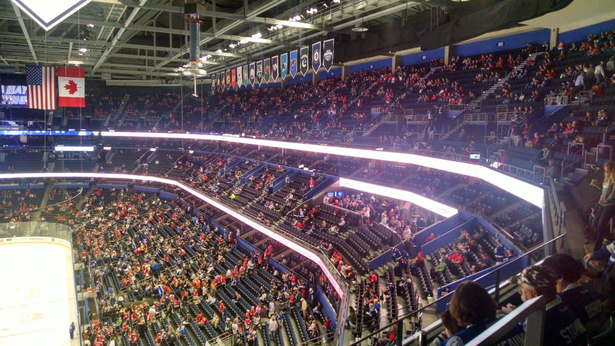 Amalie Arena Section 229 Tampa Bay Lightning