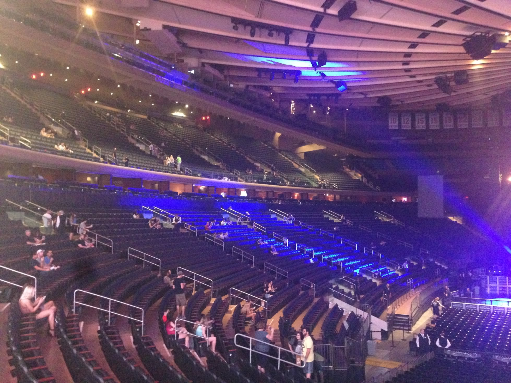 Madison Square Garden 100 Level Side Concert Seating