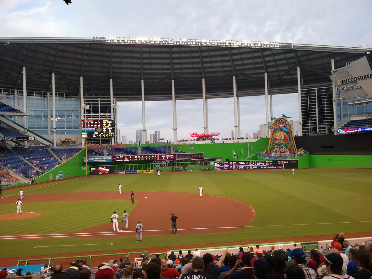 Miami Marlins Marlins Park Seating Chart Interactive Map