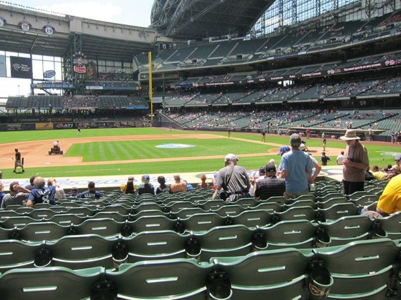We Sit Out Of The Sun At Miller Park
