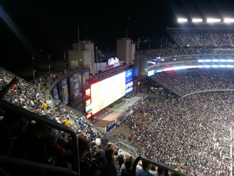 New England Patriots Seat View for Gillette Stadium Section 314, Row 25, Seat 24