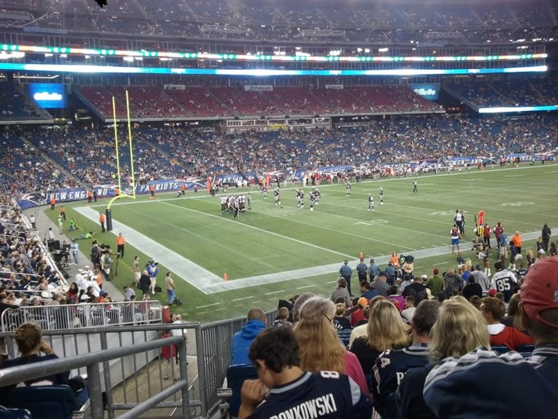 New England Patriots Seat View for Gillette Stadium Section 115, Row 25, Seat 18