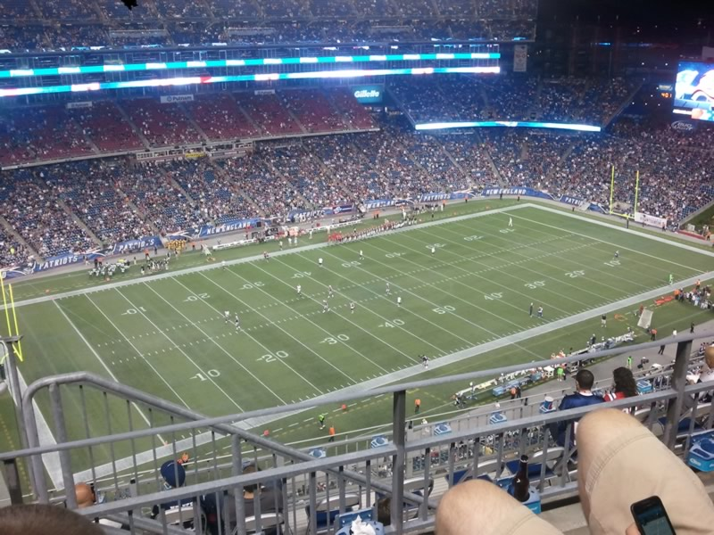 New England Patriots Seat View for Gillette Stadium Section 314, Row 10, Seat 23