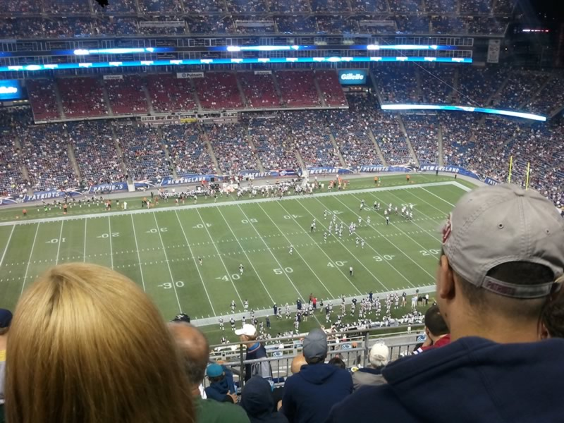 New England Patriots Seat View for Gillette Stadium Section 312, Row 15, Seat 24