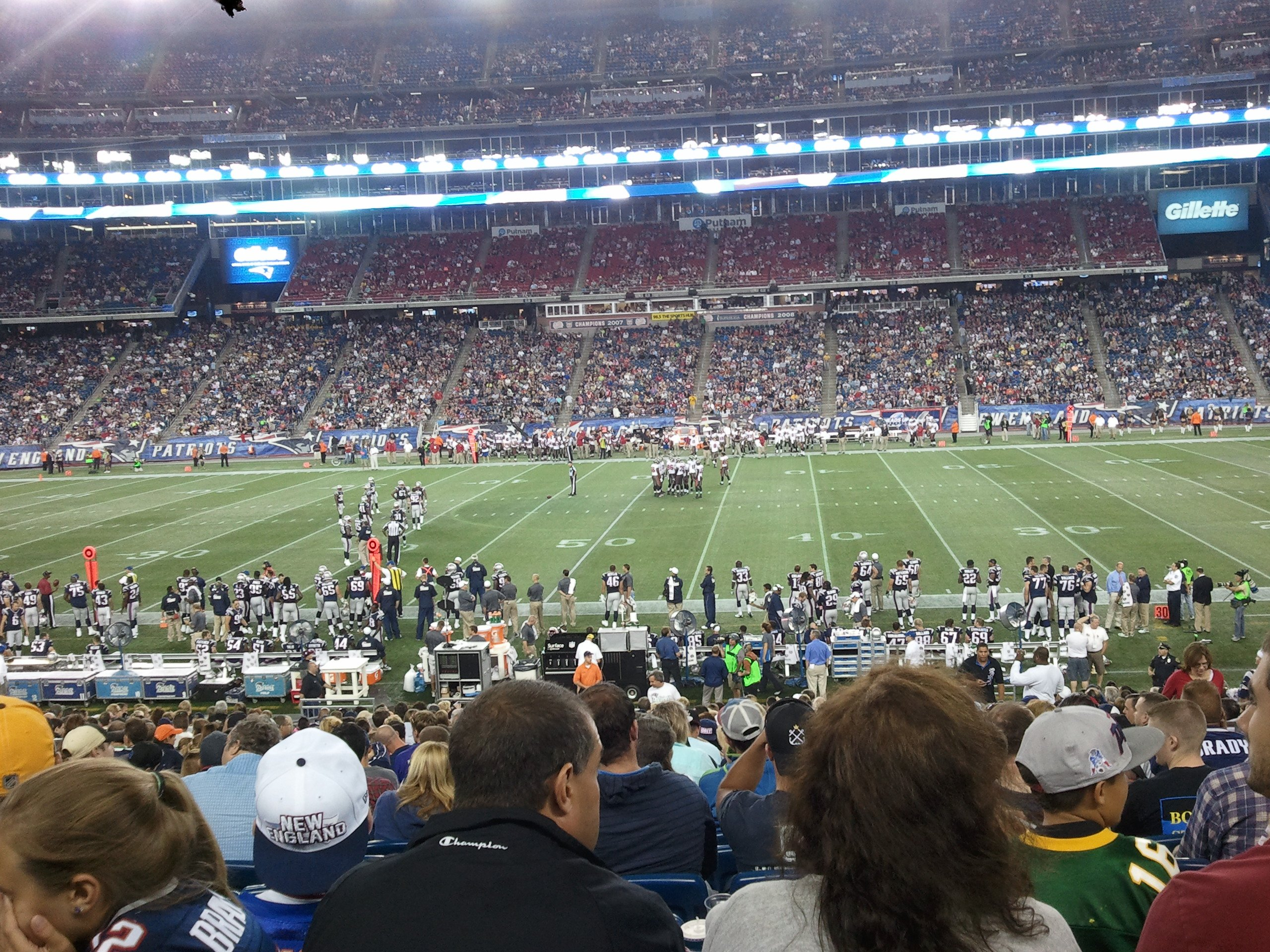 New England Patriots Seat View for Gillette Stadium Section 109, Row 27, Seat 7
