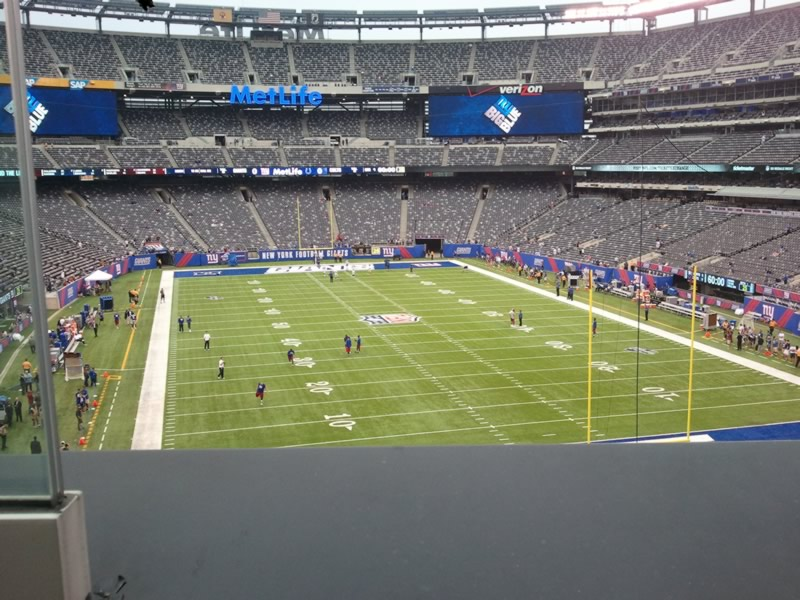 Seat View for MetLife Stadium Section 203A, Row 1, Seat 21