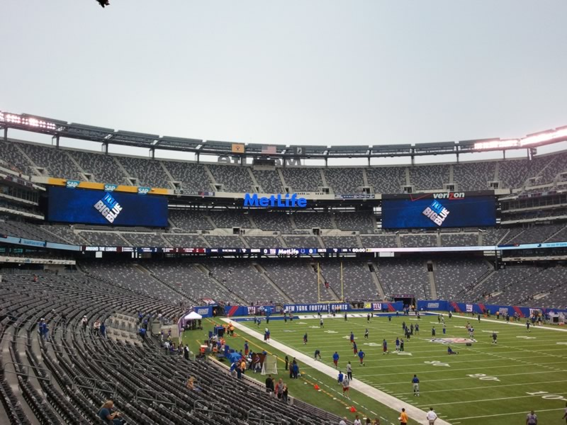 Seat View for MetLife Stadium Section 106, Row 33, Seat 10