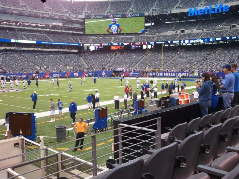 Seat View for MetLife Stadium Section 115C, Row 9, Seat 11