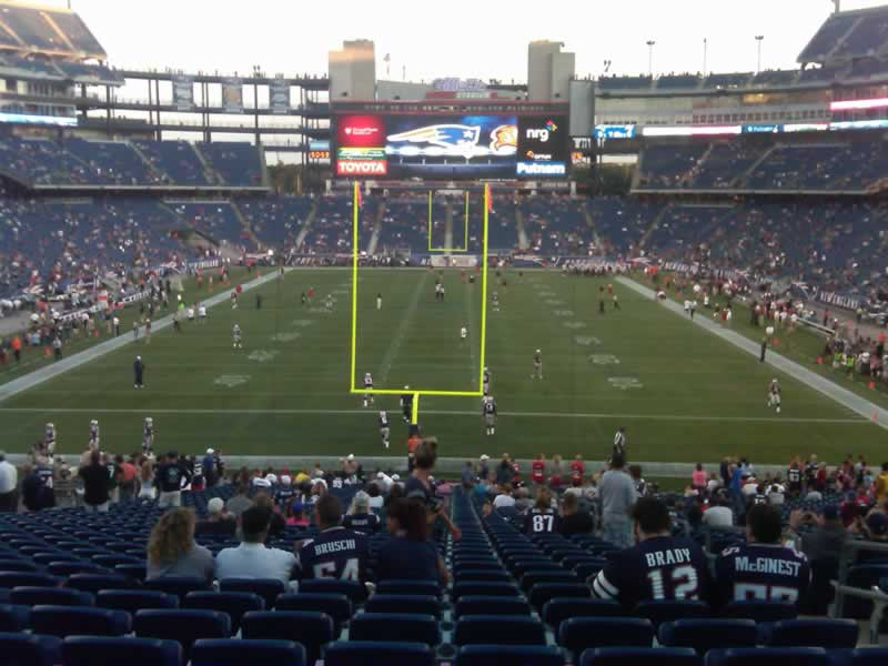 New England Patriots Seat View for Gillette Stadium Section 143, Row SRO