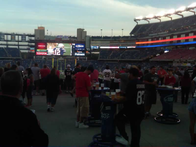 Fans Sitting Near Gillette Stadium Section 143