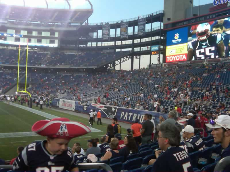New England Patriots Seat View for Gillette Stadium Section 128, Row 9, Seat 2