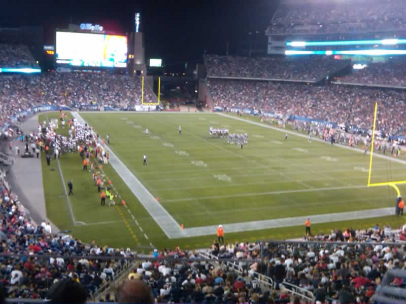 New England Patriots Seat View for Gillette Stadium Section 223, Row 3, Seat 6