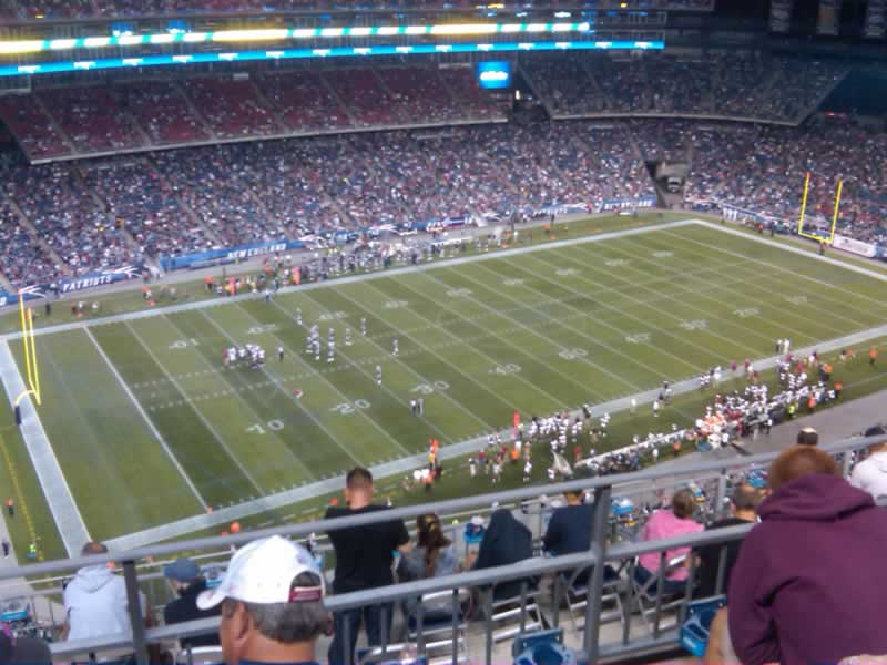 New England Patriots Seat View for Gillette Stadium Section 336, Row 10, Seat 18