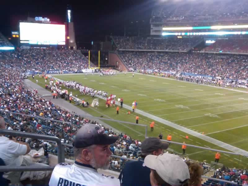 New England Patriots Seat View for Gillette Stadium Section 225, Row 4, Seat 17