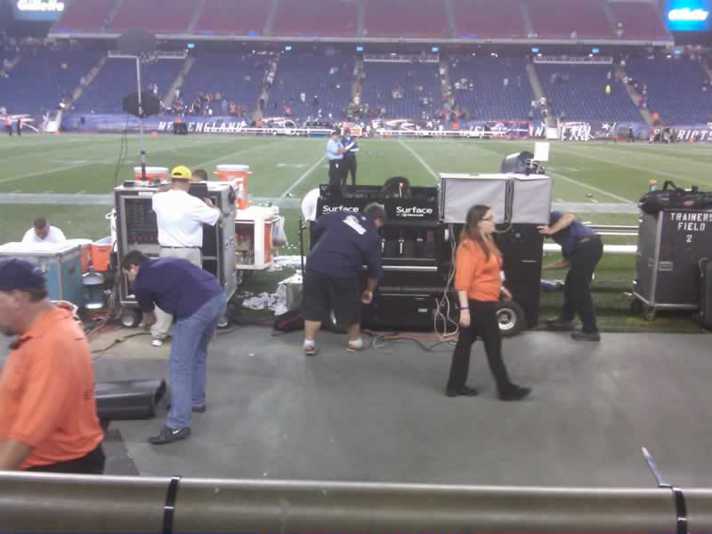 New England Patriots Seat View for Gillette Stadium Section 131, Row 1, Seat 17