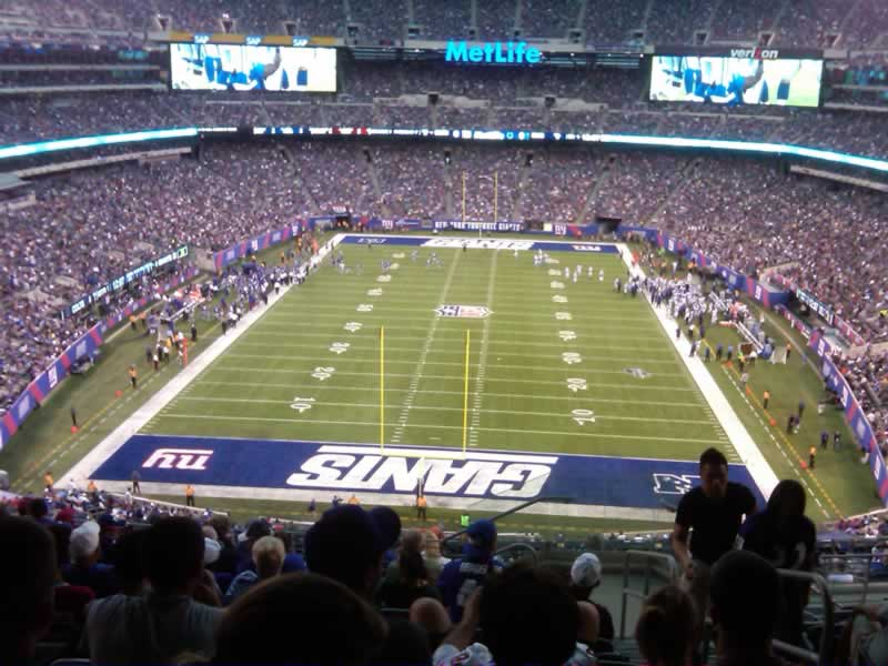Seat View for MetLife Stadium Section 201