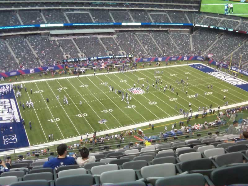 Seat View for MetLife Stadium Section 342