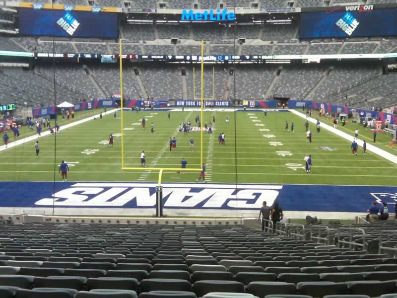 Seat View for MetLife Stadium Section 101, Row 31, Seat 8
