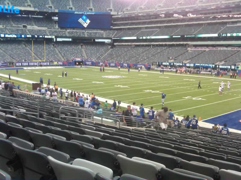 Seat View for MetLife Stadium Section 133, Row 22, Seat 10