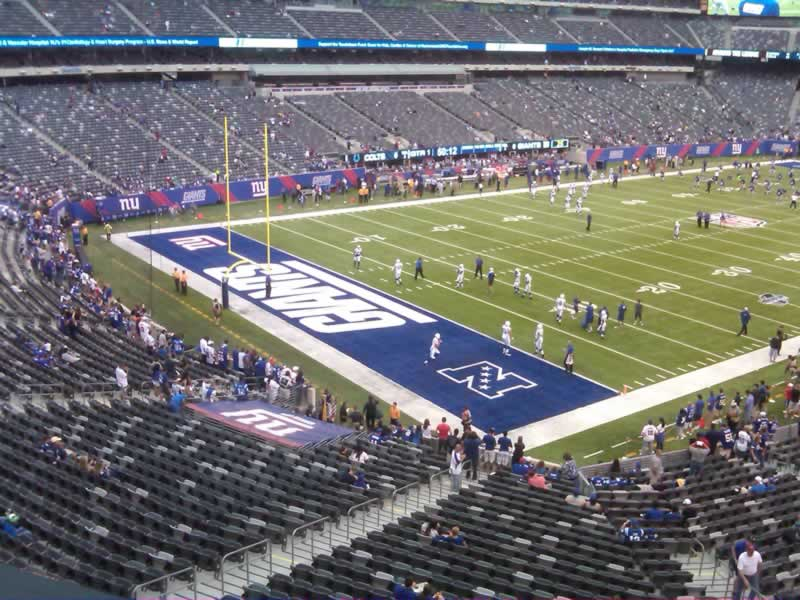 Seat View for MetLife Stadium Section 246, Row 1, Seat 7