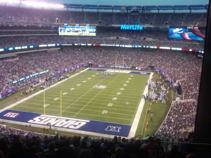 Seat View for MetLife Stadium Section 249B, Row 18, Seat 7