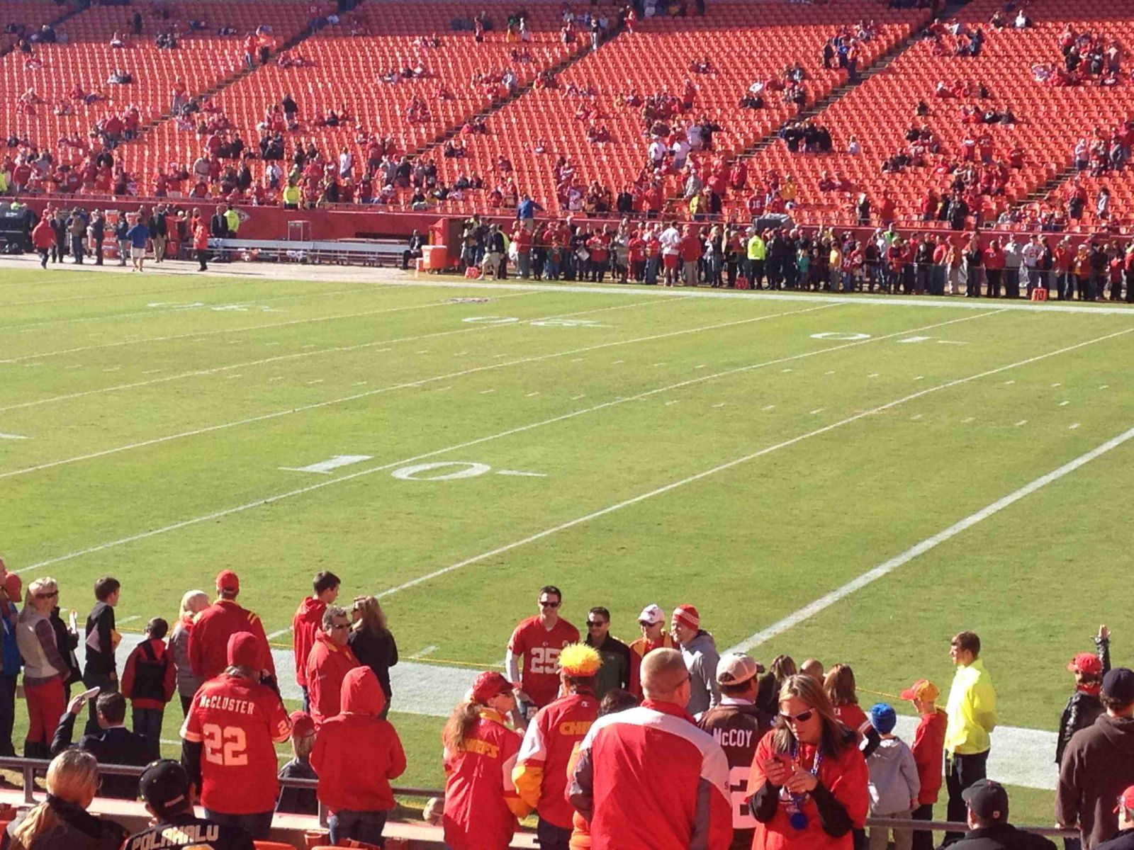 Seat View for Arrowhead Stadium Section 133, Row 18, Seat 4