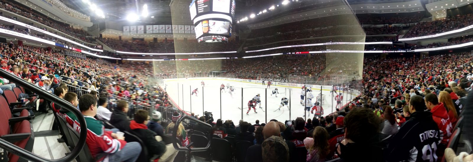 New Jersey Devils Seat View for Prudential Center Section 1, Row 9, Seat 12