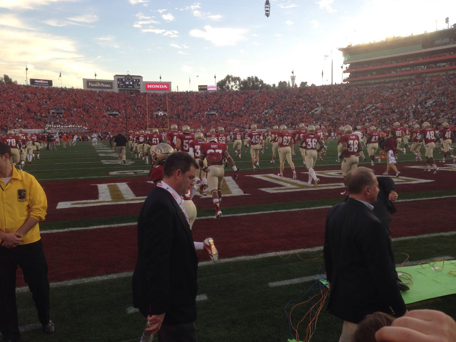 Seat View for Rose Bowl Stadium Section 9, Row M, Seat 107