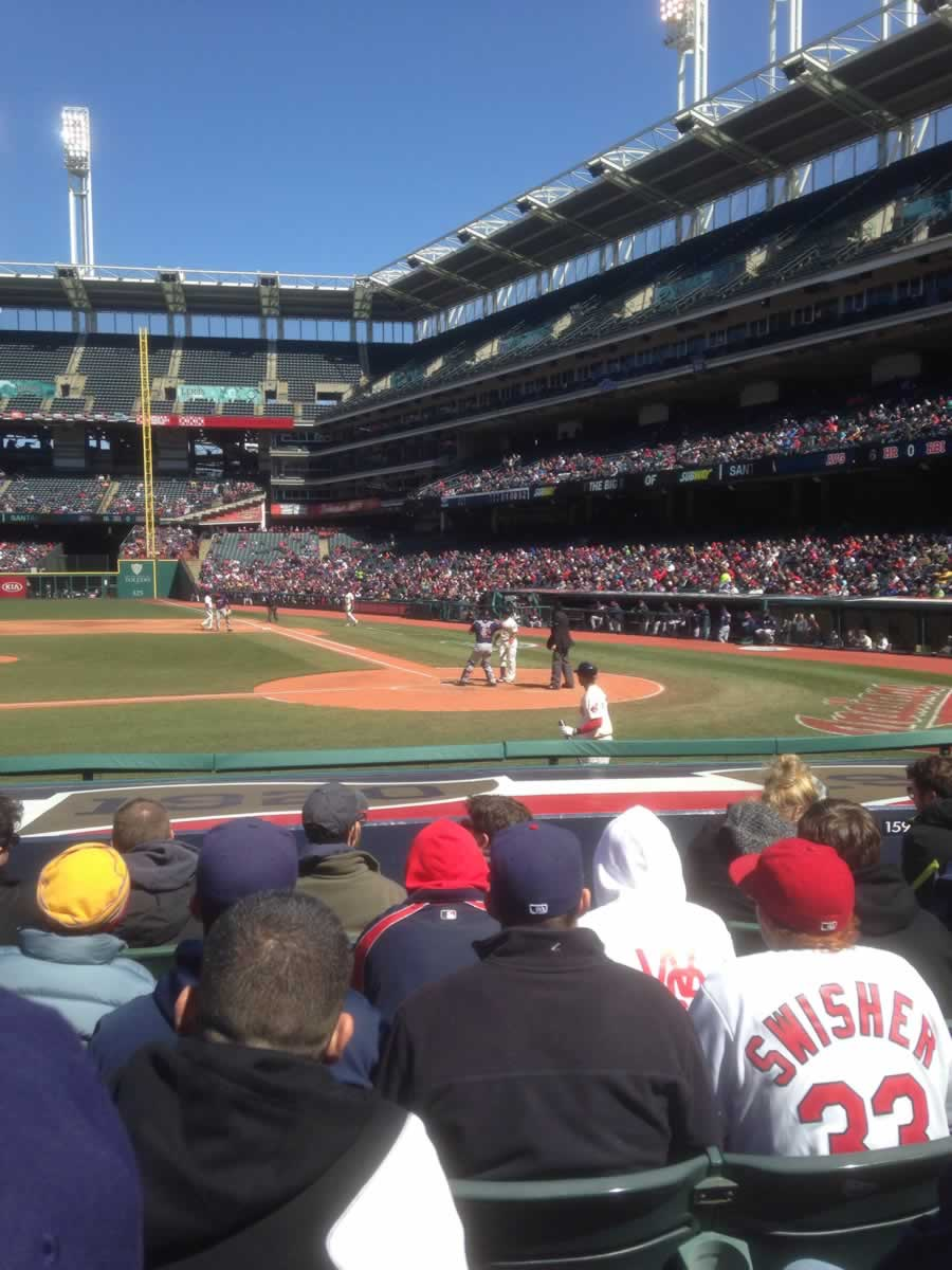 Seat View for Progressive Field Section 159, Row L, Seat 5